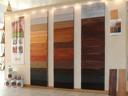 WOCA Terrassenöle in unserer Bioraum Ausstellung