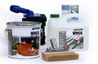 WOCA Terrassenöl Set mit Exterior Öl und Terrassenreiniger